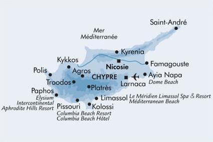 Carte Limassol Chypre.Le Meridien Limassol 5 Limassol Chypre Magiclub