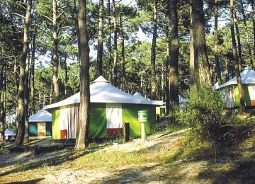 Camping toiles Mayotte Vacances Biscarrosse lac, Landes