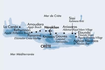 Carte Crete Amoudara.Hotel Agapi Beach 4 Amoudara Crete Magiclub Voyages
