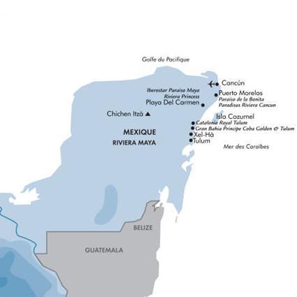 hotel iberostar paraiso maya 5 playa del carmen mexique magiclub voyages. Black Bedroom Furniture Sets. Home Design Ideas