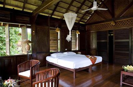 chambre bois exotique le luang say lodge m kong nord laos magiclub voyages - Chambre Exotique