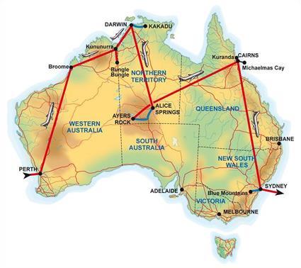 circuit couleurs d 39 australie au d part de perth australie magiclub voyages. Black Bedroom Furniture Sets. Home Design Ideas